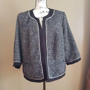 Fashion Bug Women's Black Blazer Jacket size 18